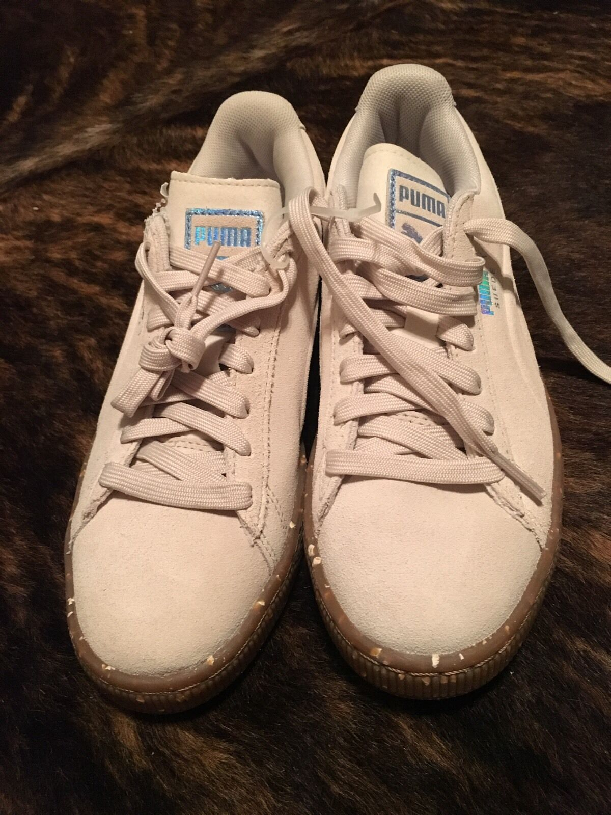 Puma Classic Basket Suede Shoes Tan Gum MENS 5.5, WOMENS 7 New NWOB Comfortable and good-looking