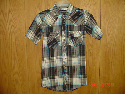 Sprockets Little Boys Green Plaid Casual Western Long Sleeve Shirt 2T-7
