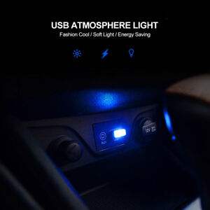 Details About Ultra Blue Usb Plug In Miniature Led Car Interior Ambient Lighting Kit Lamp