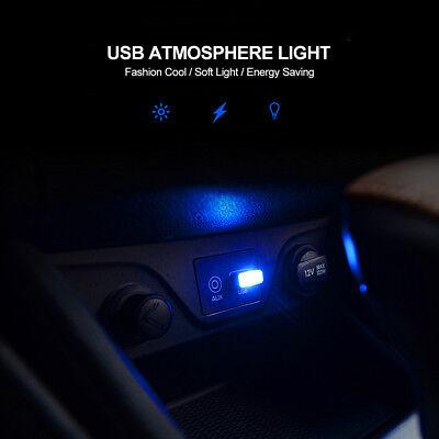 Ultra Blue Usb Plug In Miniature Led Car Interior Ambient Lighting Kit Lamp Ebay
