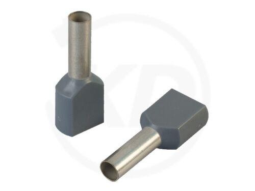 100 Stück Aderendhülsen zweifach 1,0-16.0mm² 15 16 17 18,5 20 21,5 23 26 30 mm