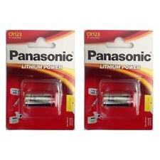 2 x Panasonic CR123, DL123, CR-123APA/1B 3V Lithium Battery in Retail Packaging