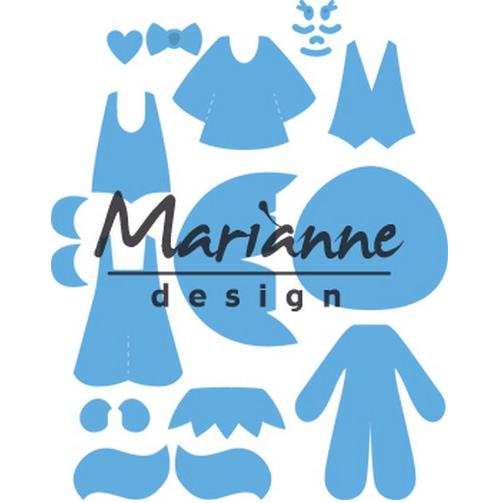 /& Prägeschablone Fahrrad Marianne Design Creatables Stanz