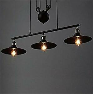 Image Is Loading Vintage Industrial Hanging Pulley Pendant Lights Retro  Retractable