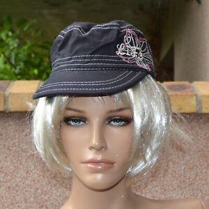 Casquette cubaine noir femme bonnet gavroche chapeau taille 54 Life ZAZA2CATS