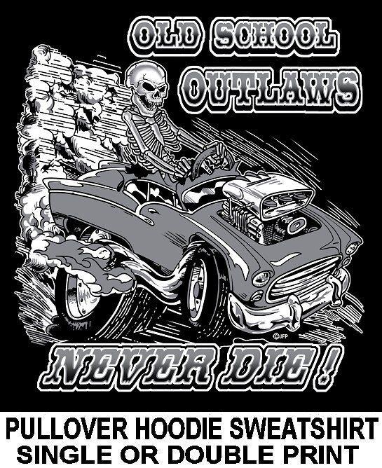 1955 OLD SCHOOL MUSCLE HOT ROD DRAG RACE BLOWER CAR SKULL HOODIE SWEATSHIRT OM18