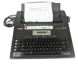 Brother AX-25 Electronic Typewriter Word Spell Check LCD & West Germany Case