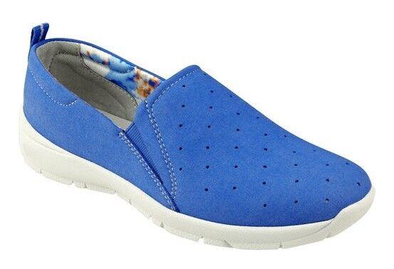 Easy Spirit Genera loafer flats wedge bluee lightweight sz 11 Med NEW