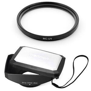 46mm-16-9-Wide-Lens-Hood-MCUV-Filter-for-Sharp-Viewcam-VL-AH151U-E630U-camcorder