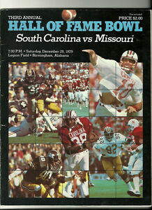 1979 Hall Of Fame Bowl Game Program South Carolina Missouri