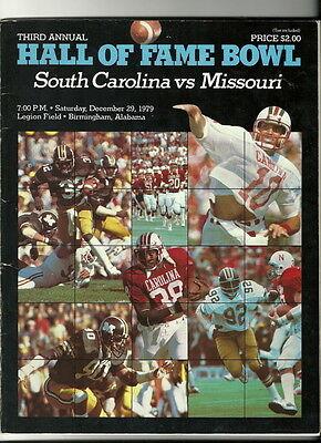 1979 Hall Of Fame Bowl Game Program South Carolina ...