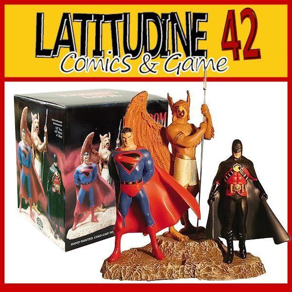 Dc Direct Kingdom Come  Superman Hawkman rot Robin Hand Paint Statuen 1100