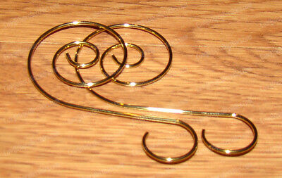 Gold Wire Ornament Hooks 30 Piece Set W5130