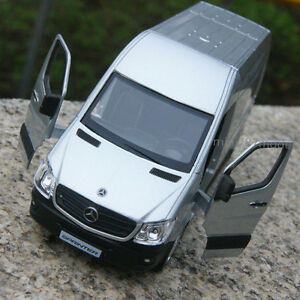 Mercedes benz sprinter van 5 silver alloy diecast model for Mercedes benz toy car models