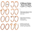 32PCS-20G-Nose-Hoop-Ring-L-Shaped-Nose-Stud-Stainless-Steel-Piercing-Jewelry-Set thumbnail 4