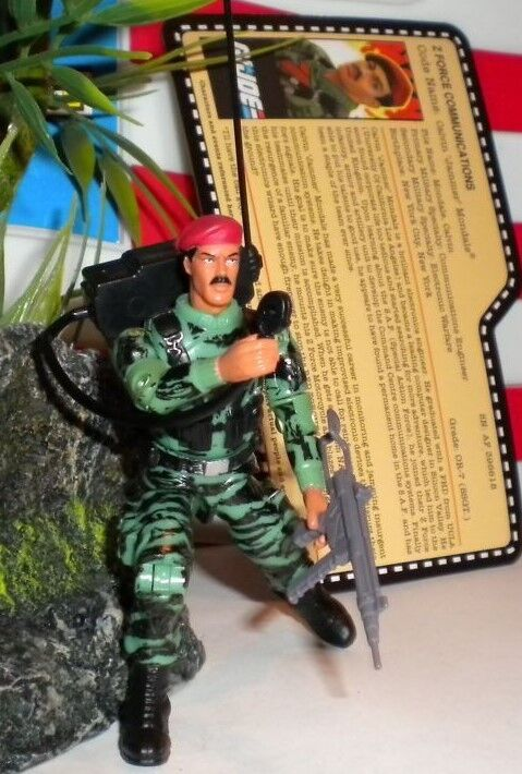 GI JOE  2010 JAMMER  CONVENTION   Z FORCE STALKER 1982 joecon red shadows