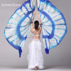 100/% Silk Belly Dance isis Wings Scarf Viel Fan /& Telescopic Stick Free Shipping