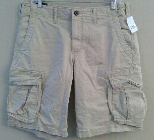 "NWT GAP Flex Men/'s 12/"" Khaki Shorts Sz 30-31-32-34-36 Beige Gray Blue"