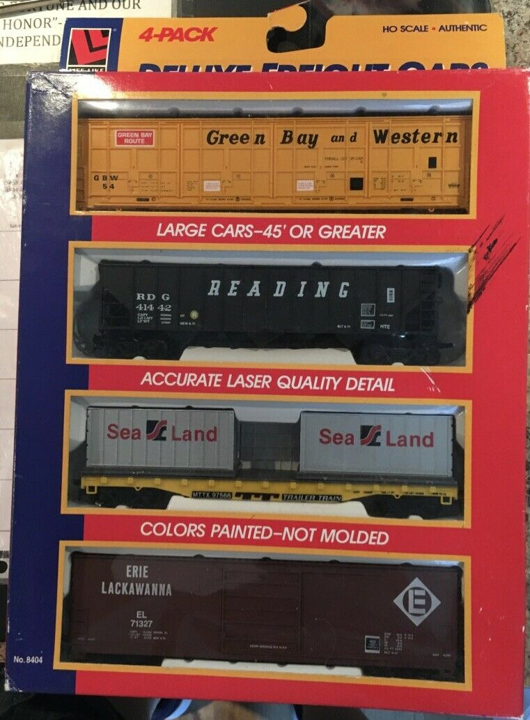 Life-Like HO 4 Car Freight Assortment