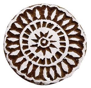Indische-dekorative-Blumenmuster-handgeschnitzten-Bloecke-Briefmarken-drucken
