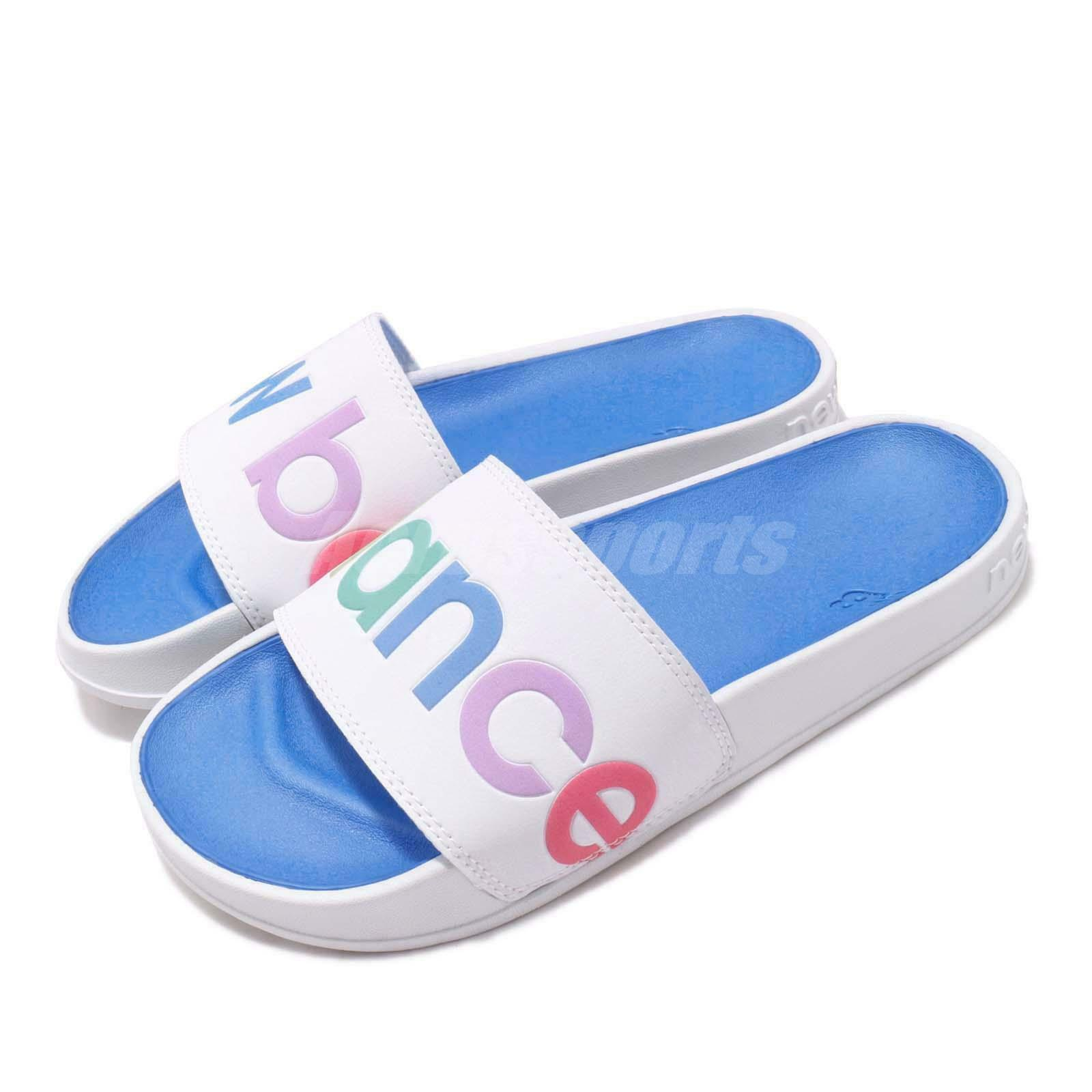New Balance SWF200A1 B blanc Multi-Couleur bleu Mens femmes Sandal Slide SWF200A1B