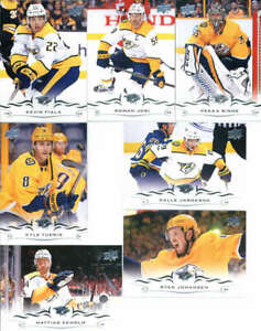 2018-19-Upper-Deck-Hockey-Complete-Nashville-Predators-Team-Set-of-13-Cards