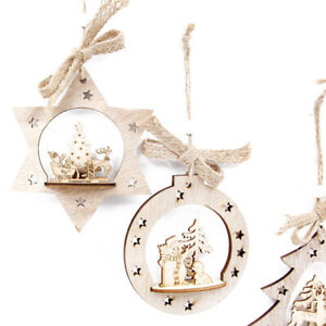 le-pere-noel-ornements-de-bois-noel-suspendu-la-decoration-d-039-arbres-de-noel