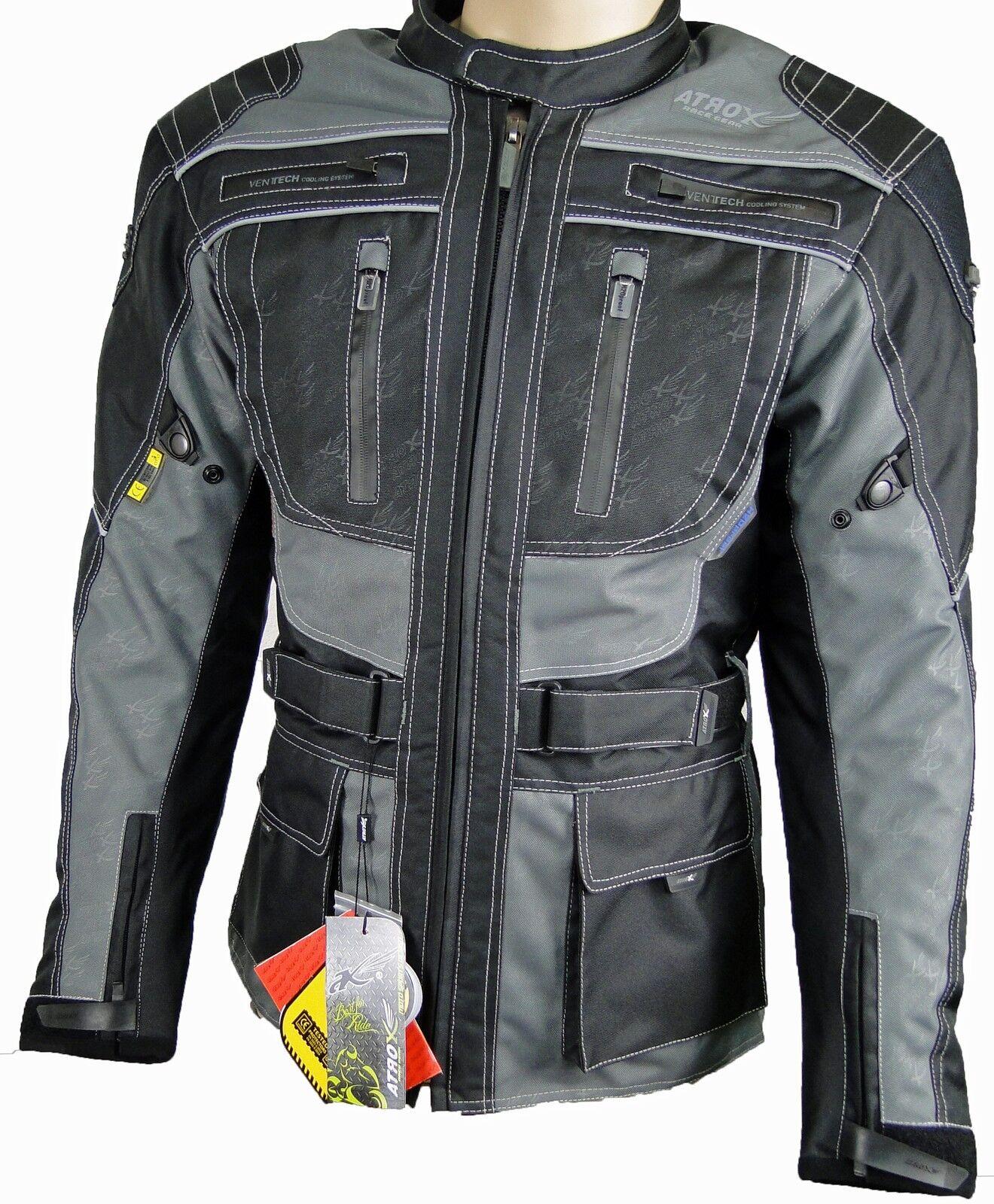 Chaqueta de moto, Cordura, Textil ropa Motocicleta ATROX nf2203 talla L