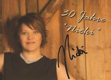 Autogramm AK Nicki Schlagersängerin aus Deutschland ab den 80er Jahren Nicky 30#