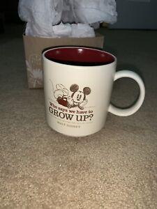Hallmark-Disney-Mickey-Mouse-Who-Says-We-Have-to-Grow-Up-Coffee-Mug-12-oz-New