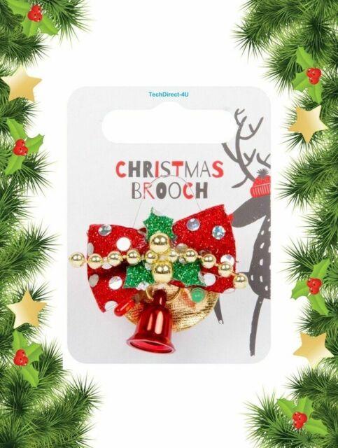 Flashing Christmas Brooch Novelty Xmas Badges Pins Santa,Angel,Xmas Tree LED