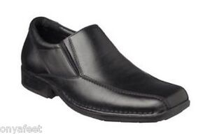 Mens-HUSH-PUPPIES-PRESTIGE-Black-FORMAL-DRESS-WORK-LEATHER-SHOES-EXTRA-WIDE-FIT