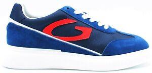 ALBERTO GUARDIANI Art.101037 Sneakers, Uomo in Camoscio Blu N.45