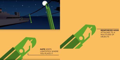 """15cm Cyalume® Branded Police Green lightstick 12 Hour 6"""" Military ChemLight"""