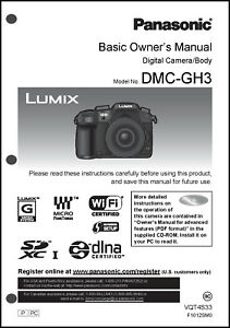 panasonic lumix dmc gh3 basic camera user guide instruction manual rh ebay com panasonic lumix dmc-gh3 manual panasonic lumix gh4 manual