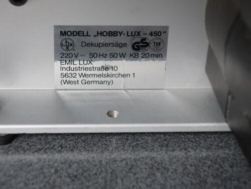 ✅ 6 Super schmal Holz Sägeblätter für OBI Hobby Lux 450 Dekupiersäge  ✅