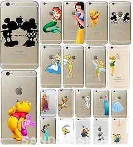 Disney-Princess-Character-Hard-Cover-Case-Mermaid-Minion-For-iPhone-4s-5s-6s-7