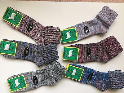 """6 Pairs Ladies High Quality Chunky Socks Hike Boot Size 4-7 Klyhtg Knitterfestigkeit"