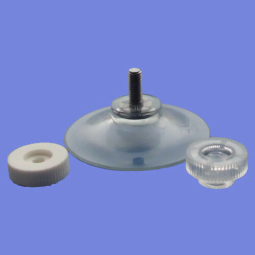 2 Saugnäpfe Ø 40 mm mit Gewinde 10 mm und Rändelmuttern Saugnapf Haftsauger