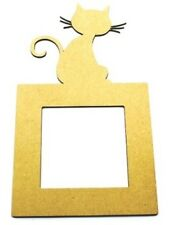 Light Switch Surround Mdf blank Cat Design - Laser Cut Craft shape - Cover Plate