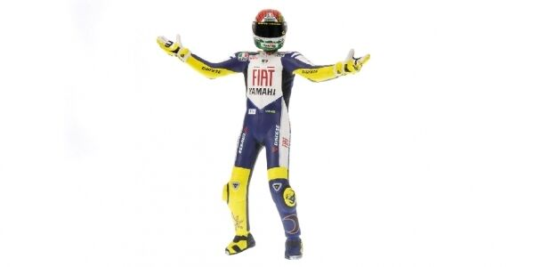 Valentino Rossi Standing Figure World Champion MotoGP 2008 1 12 Model 312080146