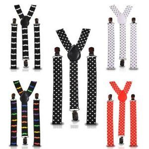 Unisex-Hombre-Tirantes-Resistente-Clip-de-Metal-25mm-Ancho-Pantalon-Disfraz
