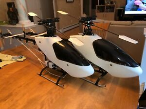 2-NEW-600-Class-NITRO-RC-helicopters-W-New-OS50-Motors-and-Hatori-Pipes-CHEAP