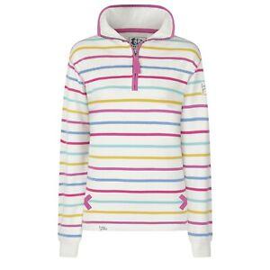 Lazy-Jacks-Ladies-1-4-Zip-Stripe-Sweatshirt-Periwinkle-Multi-LJ35
