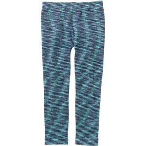 65221fd11a6a07 Girls 4-6X (S) Blues & Aqua Striped Fleece Leggings-NEW-Space Dyed ...