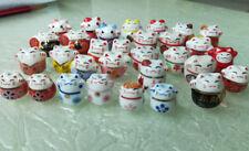 Mini Maneki Neko Lucky Cat Porcelain Ceramic Figure Charm DIY Accessories