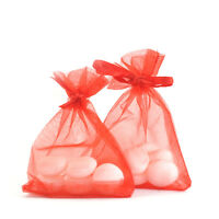 7x9cm Luxury Red ORGANZA BAGS Favour Wedding Gift Jewellery Pouches