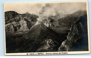 Naples-Italy-Mount-Vesuvius-Active-Volcano-Vesuvio-Vintage-Photo-Postcard-A91