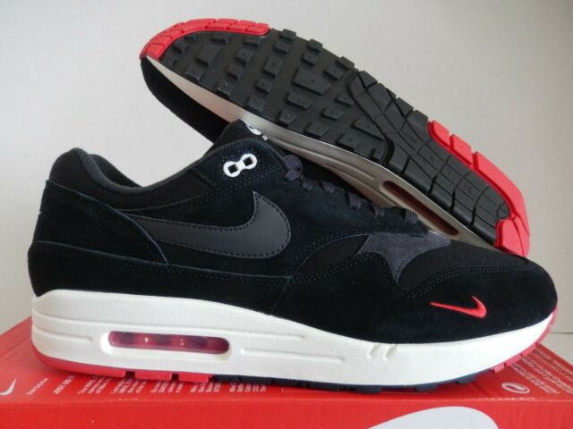 air max 1 black red