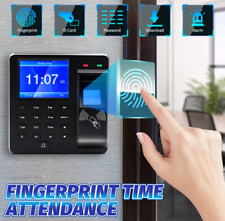 Attendance Machine Time Clock Biometric Fingerprint Check In Out Device